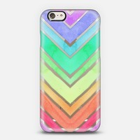 Rainbow Watercolor Chevron iPhone 6 case by Micklyn Le Feuvre   Casetify