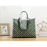 LV Louis Vuitton Fashion Women Shopping Bag Leather Handbag Crossbody Satchel Shoulder Bag Green