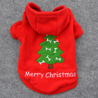 New Qualified 2017 Hot sell Christmas Pet Puppy Dog Red Clothes Santa Claus Costume Outwear Thick dogs Coat Apparel dig6726