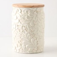 Verdant Canister by Anthropologie Ivory One Size Kitchen