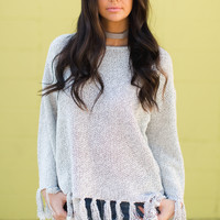 Snow Angel Fringe Sweater