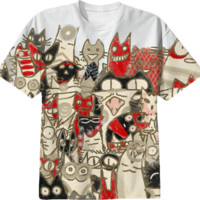 Lot Cats created by nekomeandon   Print All Over Me