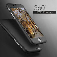Neo Hybrid Hard PC 360 Degrees Full Protect Case Cover For iPhone 6   6S Plus Free Gift Tempered Glass Screen Protector