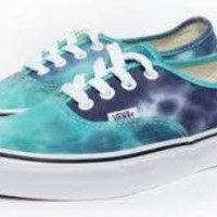 Vans Authentic(K)-(Tie Dye)Navy/Turq