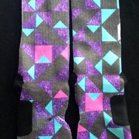 """Optical Pyramid 2.0's"" Custom Nike Elite Socks from GotElites"