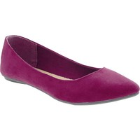 Women's Sueded Pointed-Toe Flats