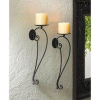 Verve Black Metal Wall Sconce Duo