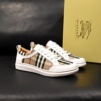 Burberry Men Fashion Boots fashionable Casual leather Breathable Sneakers Running Shoes08170cc