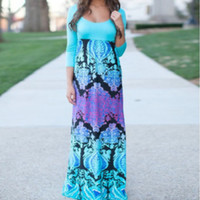 Hot Sale Stylish Slim Print Prom Dress Round-neck Half-sleeve One Piece Dress [4981689796]
