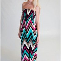 The Year In Color Zigzag Maxi Dress
