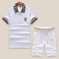 Versace Shirt Top Tee Shorts Set Two-Piece