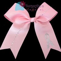 Breast Cancer Awareness Cheer Bow by SamanthasHats on Etsy
