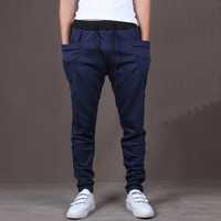 Navy Blue Mens Comfy Fitted Joggers
