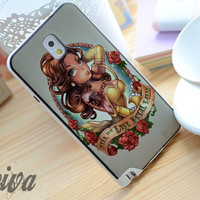 Princess Beauty Tattoo Phone Case For iPhone Samsung iPod Sony