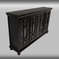 Rustic Collection: Console (Rough, Black, Green, & White)