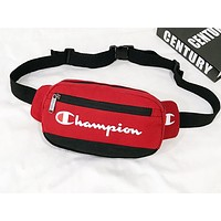 Champion sells a stylish women's casual print patchwork color cross breast bag Red