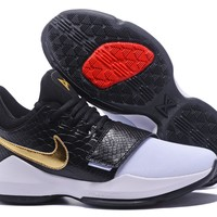 Nike Zoom Paul George PG 1 White /Black /Gold Basketball Shoes