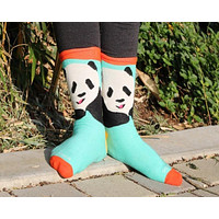 Teal Panda Socks