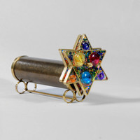 Judaica kaleidoscope, Short Giant Star of David Kaleidoscope, Hanukkah Gift
