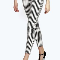 Evie Striped Low Rise Jeans