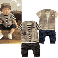 Baby Boy Jumpsuit Vested Romper