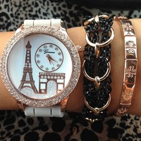 Eiffel Tower Watch & Bracelet Set- Tanya Kara Jewelry