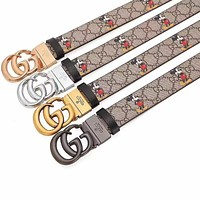 G GG leather belt with decorative leather belt casual collocation G buckle trouser belt
