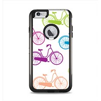 The Colorful Vintage Bike on White Pattern Apple iPhone 6 Plus Otterbox Commuter Case Skin Set