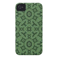 Green abstract pattern iPhone 4 case