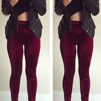 Velvet High-Waisted Leggings (more colors)