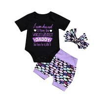 New Casual Newborn Baby Girl Clothes Cotton Tops Romper Short Sleeve Jumpsuit Shorts Pants Outfit Clothes Summer