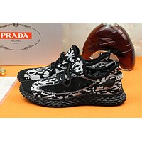 prada men fashion boots fashionable casual leather breathable sneakers running shoes 33