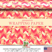 Geometric Wrapping Paper | Custom Geometric Gift Wrap In Two Sizes Great For Any Occasion. Made In The USA