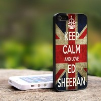Keep Calm and Love Ed Sheeran - For iPhone 4,4S Black Case Cover