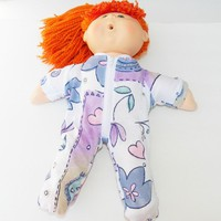 """Cabbage Patch Clothes, fits 16"""" kids girl doll, pAJAMAS 'Emma loves Flowers and Hearts'"""