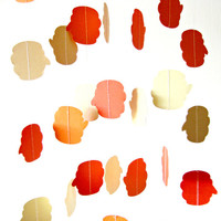 Pumpkin paper garland,  fall decoration, autumn decoration, bright home decor, party decor, thanksgiving decoration