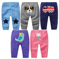 5Pcs/lot Baby Pants Spring Baby Boy Clothes Cotton Baby Girl Clothing Roupas Bebe Infant Pants Newborn Trousers Kids Costume