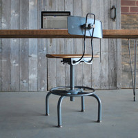 """modern rustic Reclaimed """"old growth"""" wood desk with steel hairpin legs"""