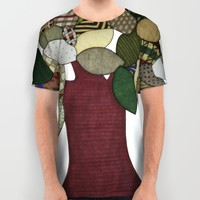 Tree and Sheep All Over Print Shirt by Erin Brie Art