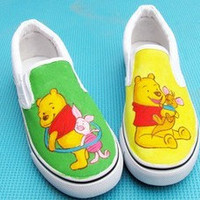 Winnie the Pooh Shoes Winnie the Pooh painted canvas shoes Winnie the Pooh anme shoes
