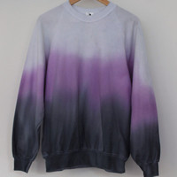 ANDCLOTHING — Purple Dusk Dip Dye Sweater SOLD OUT