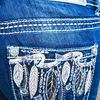 GRACE IN LIGHT AS A FEATHER BOOTCUT JEANS