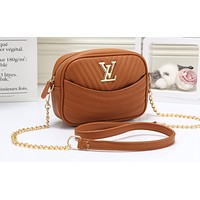LV Fashion Pure Wave Lady's Single Shoulder Bag Shopping Bag Brown