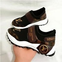 Louis Vuitton LV Classic Trend Sports Casual Running Shoes Breathable Mesh Shoes