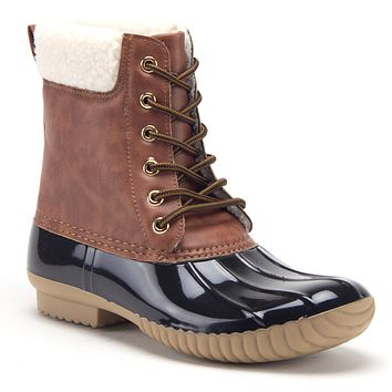 Women's Dylan Lace Up Tall Rain & Snow Winter Duck Boots