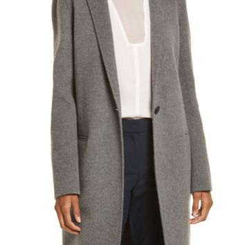 Theory New Divide Wool & Cashmere Coat   Nordstrom