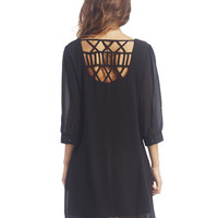 Caged Back Chiffon Shift Dress | Wet Seal