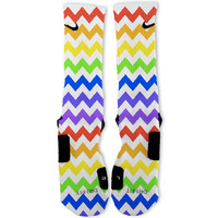 Chevron Rainbow Custom Nike Elite Socks