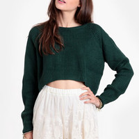 Forest Exile Cropped Sweater