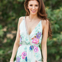 Bailey Mint Floral Romper